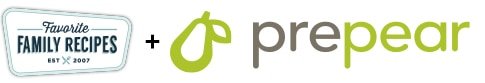 Favorite Family Recipes and Prepear logos