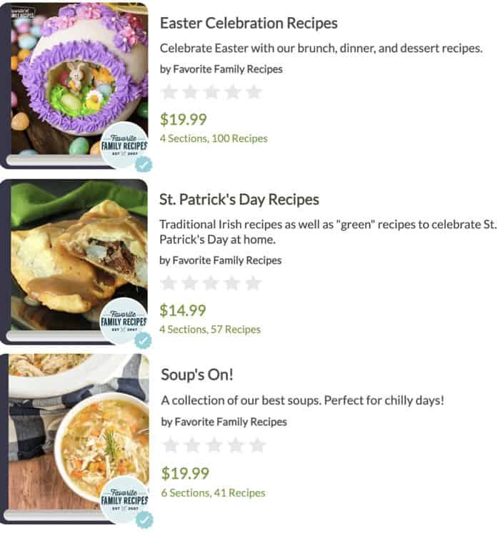 February Bonus Cookbooks