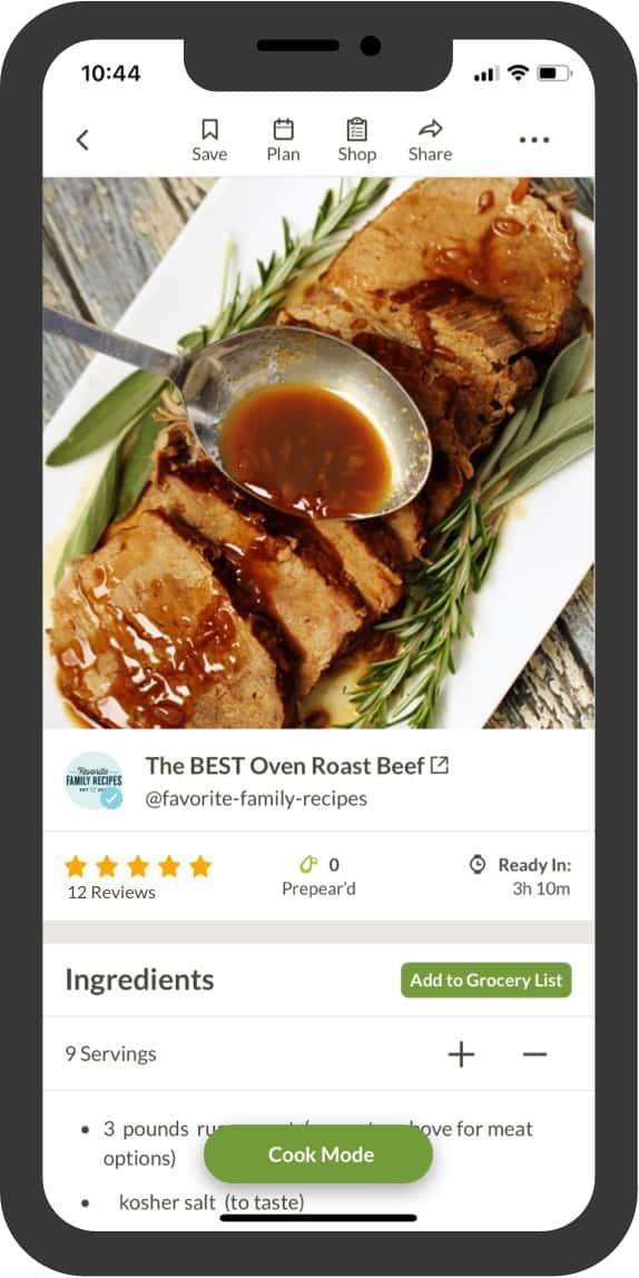 Prepear recipe ad free