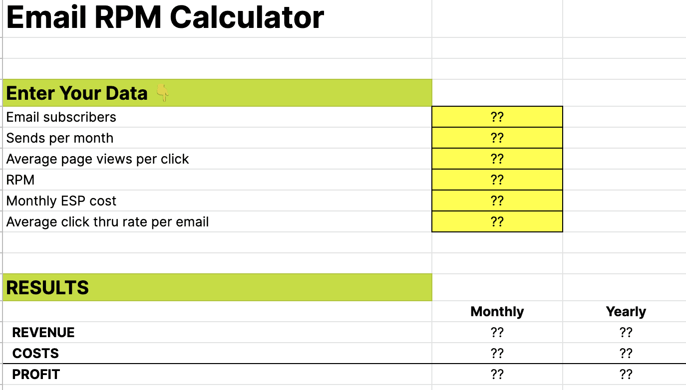 Get free email calculator